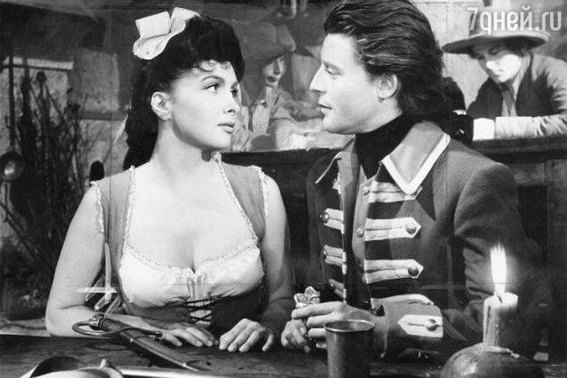 Жерар Филип с Джиной Лоллобриджидой в фильме «Фанфан-тюльпан». 1952 г.