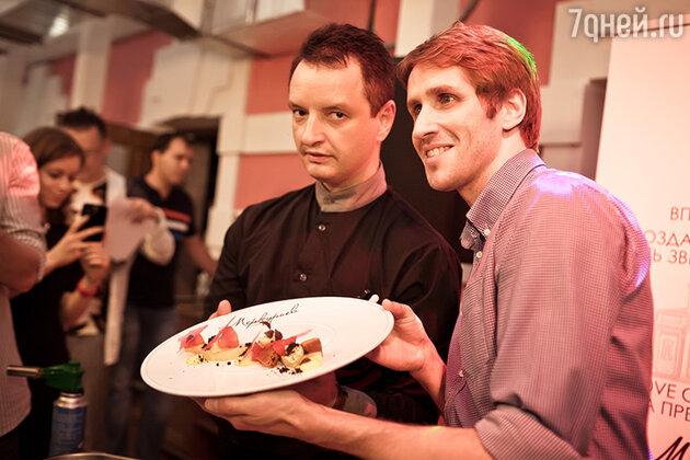 Андрей Меркурьев и шеф-повар ресторана Алексей Берзин