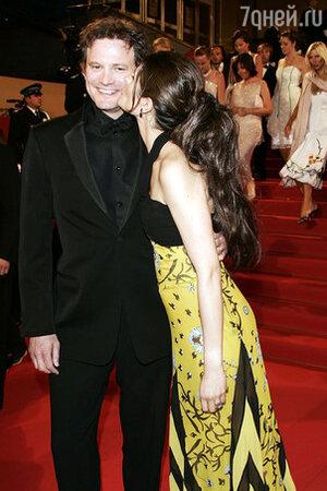 Колин Ферт и его жена Ливия Джуджоли на Каннском кинофестивале. 2004 г.