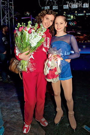 Юлия Липницкая и ее тренер Этери Тутберидзе