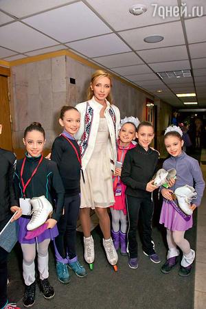Татьяна Навка с будущими чемпионками