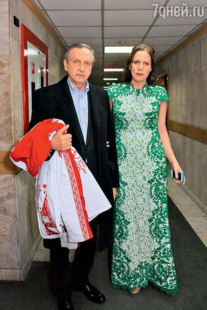 Президент Федерации фигурного катания Александр Горшков с дочкой Юлией