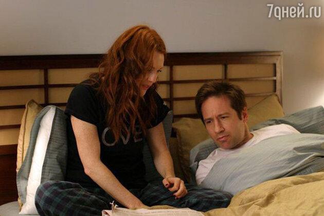 В постели с Дэвидом Дуковни. Сцена из фильма «Доверься мужчине» режиссера Барта Фрейндлиха, мужа актрисы