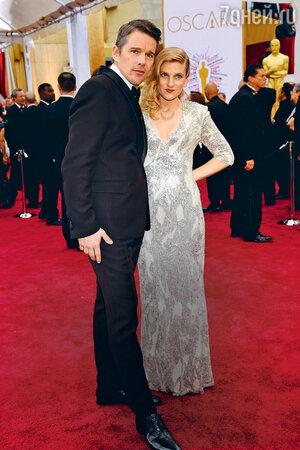 Итэн Хоук с женой Райан