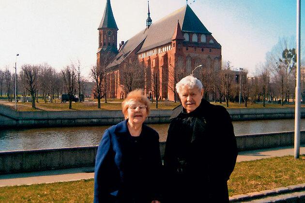 Донатас Банионис с женой Оной