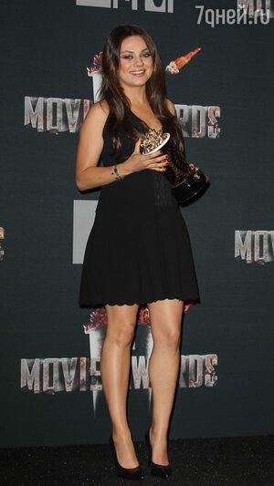 Мила Кунис на вручении премии MTV Movie Awards-2014