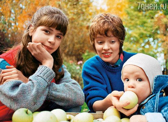 С Дашей, дочерью Ильи от первого брака, и сыном Потапом