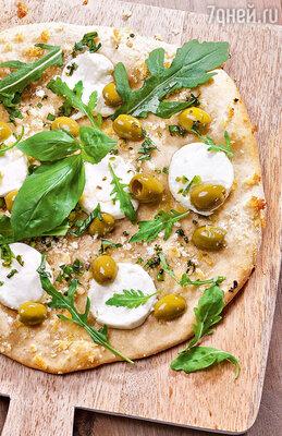 Пицца с козьим сыром