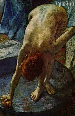 Я могу биться день и ночь, чтобы передать линию руки с торчащим локтем, — это единственное, ради чего стоит браться за кисть. Фото репродукции картины «Мытьё», 1886г.