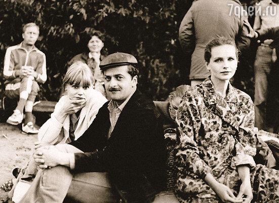 С Александром Миндадзе и Лидией Ежевской на съемках «Парада планет»