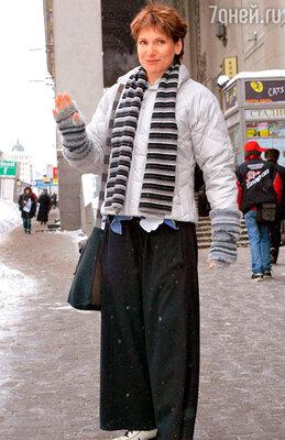 Людмила Артемьева на Садовом кольце. 2006 г.