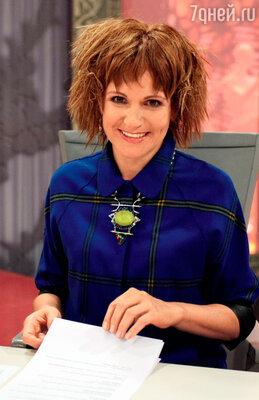 Людмила Артемьева на съемках «Модного приговора». 2013 г.