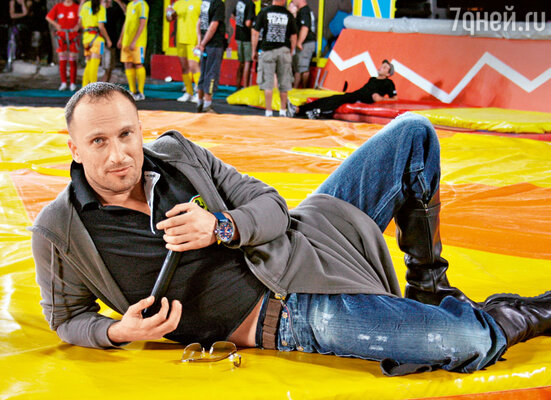 Дмитрий Нагиев на шоу «Большие гонки». 2007 год