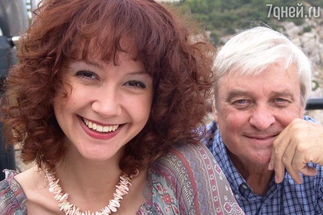 Александра Волкова и Александр Стефанович на съемках сериала «Кураж»