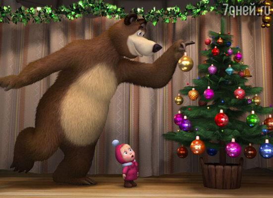 Кадр из мультфильма «Маша и медведь», 2008-2013 годы