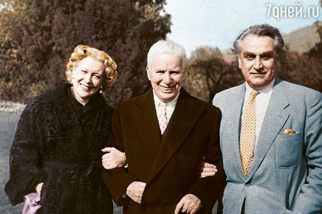 Любовь Орлова, Чарли Чаплин и Григорий Александров