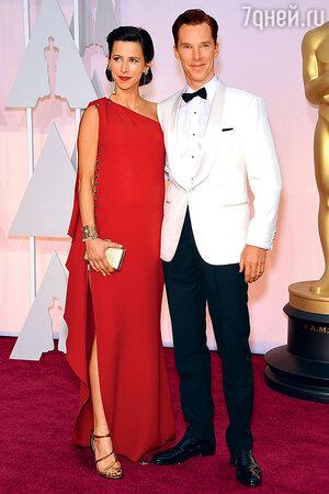 Бенедикт Камбербэтч и Софи Хантер на церемонии вручения премии «Оскар». Ферваль, 2015 г.