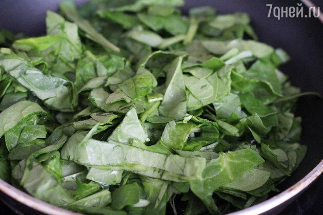 Омлет с молодым шпинатом: пошаговый фоторецепт