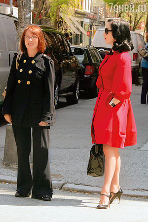 Дита фон Тиз с матерью