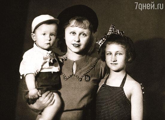 Янина Жеймо с дочерью Яниной  и сыном Юлием