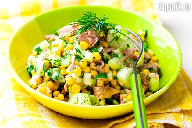 Салат с тунцом и кукурузой: рецепт закуски