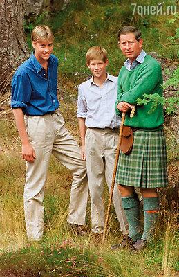 После того как родители развелись, Гарри и Уильям половину каникул проводили с отцом и половину — с матерью