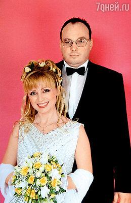 Аурика с мужем Владимиром после венчания. 2002 г.