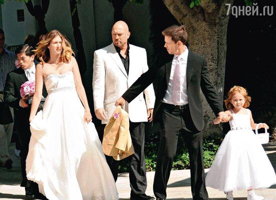 Католическая свадьба Марка и бывшей модели Реи Дурхэм состоялась после восьми лет совместной жизни и появления на свет троих детей. Беверли-Хиллз, август 2009 г.