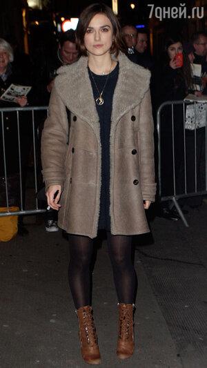 Кира Найтли. Лондон, январь  2010 года