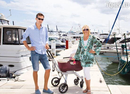 За два с половиной месяца до родов Кристина с мужем Михаилом Земцовым уехала в Майами