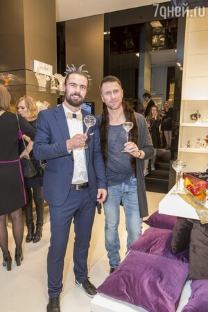 Константин Гайдай и Лукаш Ябурек (арт-директор Moser)