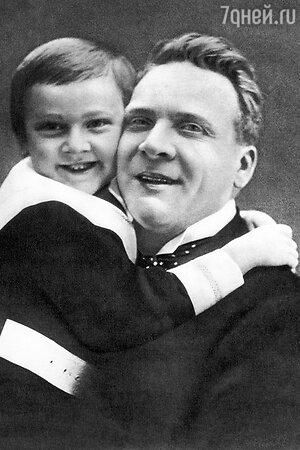 Федор Шаляпин с сыном