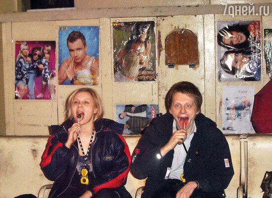 Мы с партнером по спектаклю Олегом Ягодиным