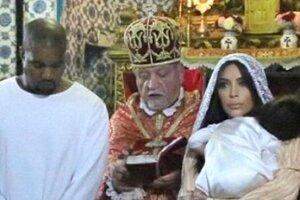 Ким Кардашьян показала фотографии крещения дочери в Иерусалиме