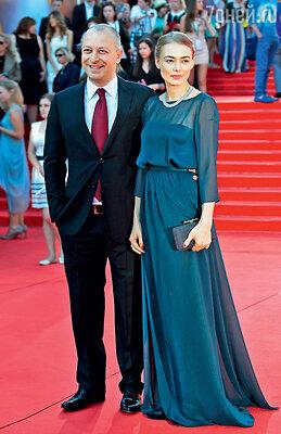 Оксана Акиньшина и Арчил Геловани на открытии 35-го Московского международного кинофестиваля