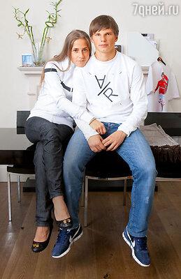 Андрей Аршавин с Юлией Барановской. 2009 г.