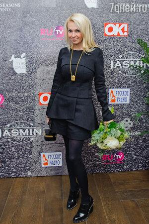 Яна Рудковская на  презентации нового альбома певицы Жасмин «От любви до любви»