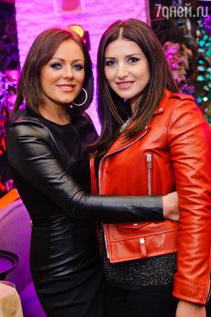 Жасмин и Юлия Началова на  презентации нового альбома певицы Жасмин «От любви до любви»