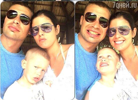 Ольга и Василий Березуцкие с сыном Вовой