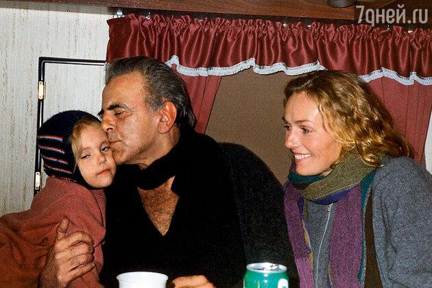 Наталья Андрейченко и Максимилиан Шелл с дочерью Анастасией
