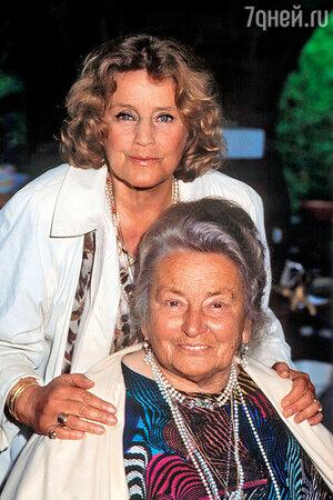 Мария Шелл с матерью