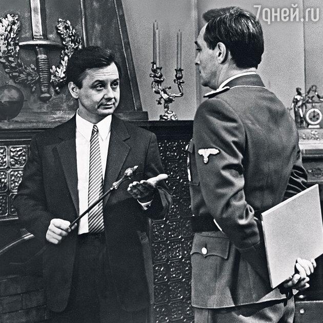 Олег Табаков с Вячеславом Тихоновым