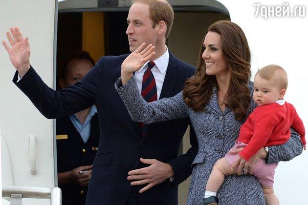 Кейт Миддлтон, принц Уильям и принц Джордж тур по Новой Зеландии и Австралии