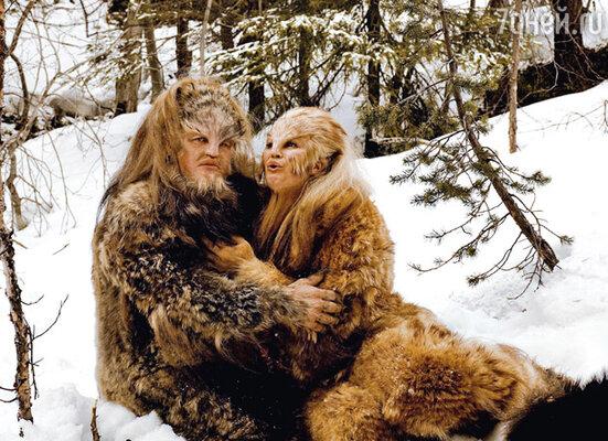 В фильме «Самка» Кристине пришлось изображать супругу снежного человека. С Александром Стриженовым
