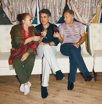 Алексей Пиманов с актерами Раисой Рязановой и Александром Моховым