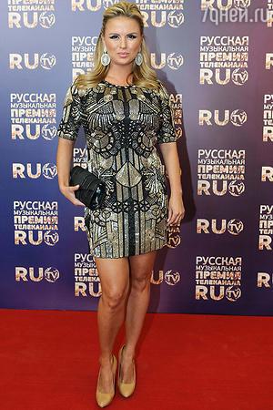 Анна Семенович на вручении Премии телеканала RU.TV. 2013 год