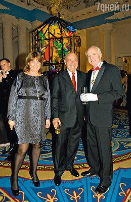 Владимир Познер и Джон Байерли, посол США в России