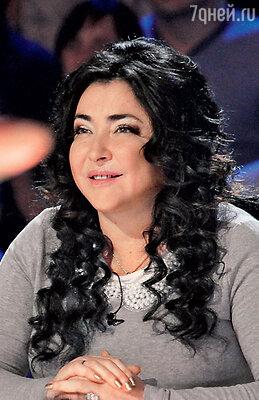 Лолита Милявская на съемках телешоу «Фактор А» — третий сезон. 2013 г.