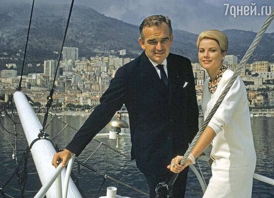 Грейс Келли и ее супруг князь Ренье II