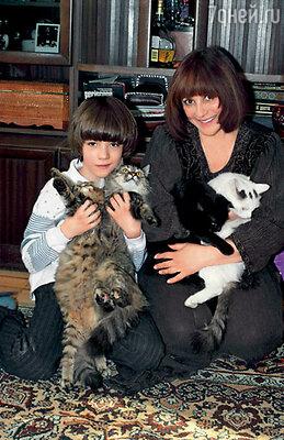 Мы с Сашей и наши кошки